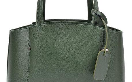 Zelená kožená kabelka Isabella Rhea Fabia