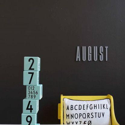 DESIGN LETTERS Dřevěné kostky Design Letters Turquoise, růžová barva, modrá barva, dřevo