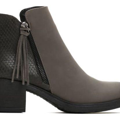 Dámské šedé kotníkové boty Devon 043
