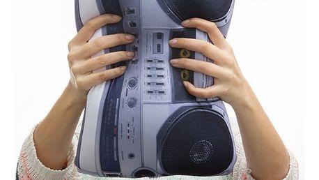 Dekorační Relaxační Polštář Radio Retro