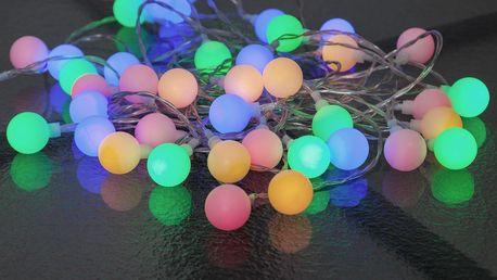 STAR TRADING Barevný LED řetěz Berry, multi barva, sklo