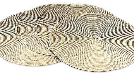Jahu Prostírání Deco kulaté béžová, sada 4 kusů, 35 cm