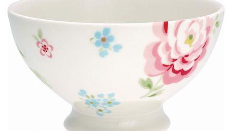 GREEN GATE Polévková miska Meryl white, růžová barva, bílá barva, multi barva, porcelán