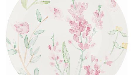 GREEN GATE Obědový talíř Alina white 27cm, růžová barva, porcelán