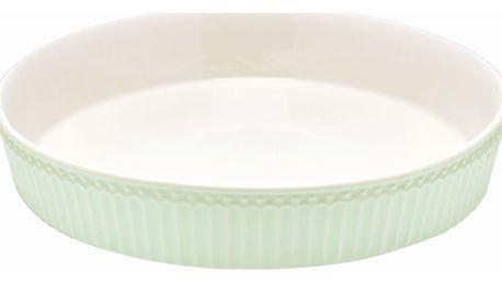 GREEN GATE Forma na koláč Alice Pale green, zelená barva, bílá barva, keramika