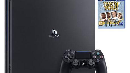 Herní konzole Sony PlayStation 4 PRO 1TB + That's You (PSN voucher) černá (PS719953760)