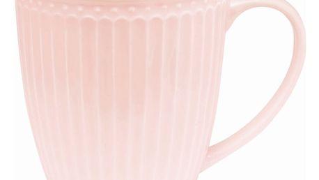 GREEN GATE Hrnek Alice pale pink, růžová barva, porcelán