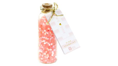 Talking Tables Dekorativní glitry Pink Sparkle, růžová barva, sklo, korek