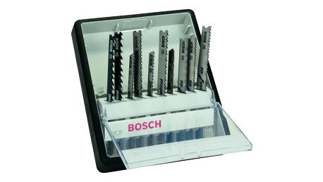 Sada Bosch 10dílná kazeta pilových plátků na dřevo/kov