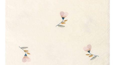 Maileg Papírové ubrousky Violet Powder 20x11 cm, růžová barva, bílá barva, papír