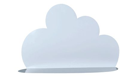 Bloomingville Kovová polička Cloud Sky blue - větší, modrá barva, kov
