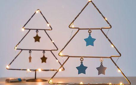 Vánoční Stromek s Hvězdičkami 10 LED
