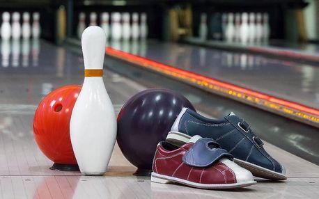 Hodinový pronájem bowlingové dráhy až pro 8 hráčů