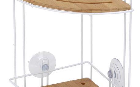 Koupelnová rohová police 2 úrovně Emako