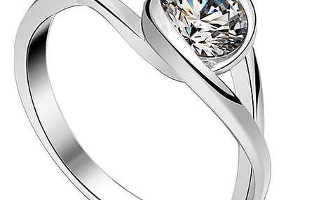 Prsten ze sterlingového stříbra 925 se zirkonem Eye Hûggot