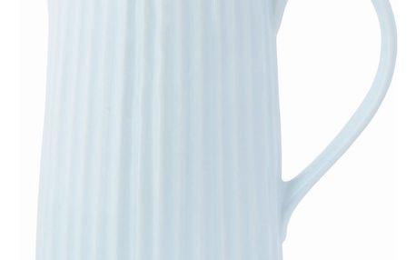 GREEN GATE Porcelánový džbán Alice pale blue 850 ml, modrá barva, porcelán