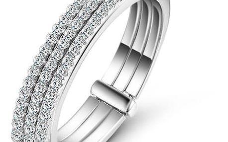 Prsten ze sterlingového stříbra 925 se zirkony Three Hûggot