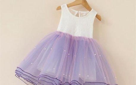 Kouzelné dívčí šatičky s bohatou sukní - 5 barev