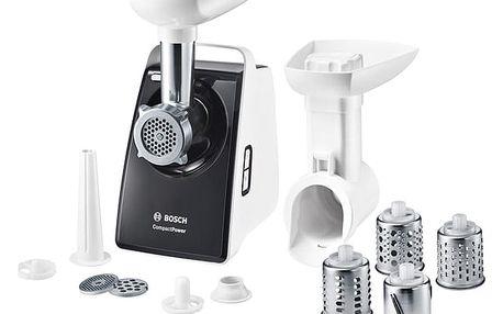 Mlýnek na maso Bosch CompactPower MFW3640A šedý/bílý