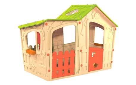 Rojaplast   Domek MAGIC VILLA - béžová + zelená   11640121