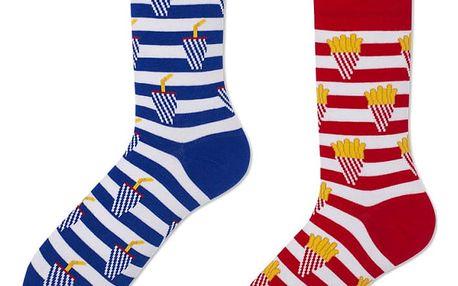 Ponožky Many Mornings Fries And Soda,vel.35–38