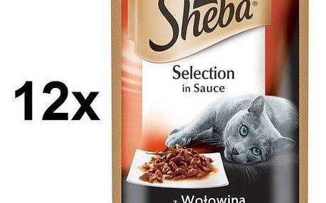 Sheba SELECTION in Sauce s Hovězím 12 x 85 g