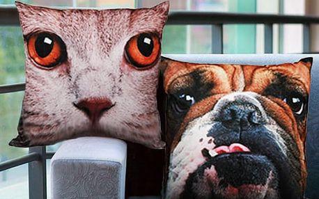 Polštář Pes nebo Kočka