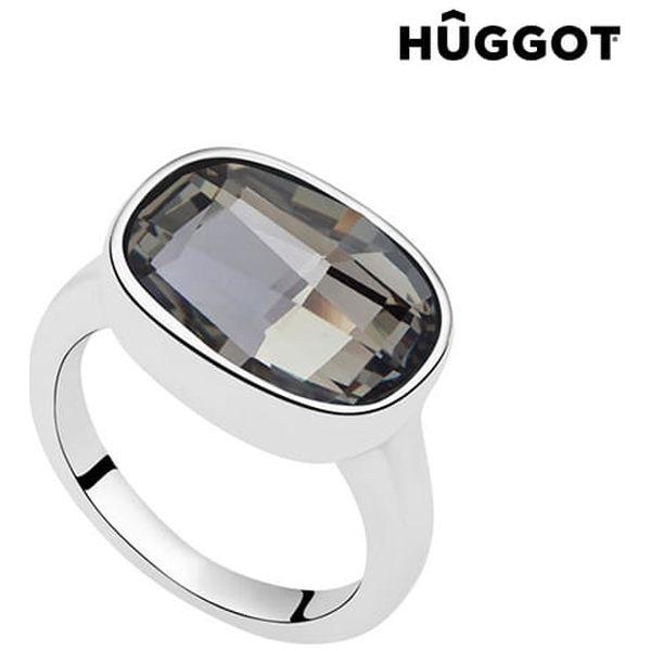 Prsten potažený rhodiem Night Hûggot vyrobený s křišťály Swarovski®