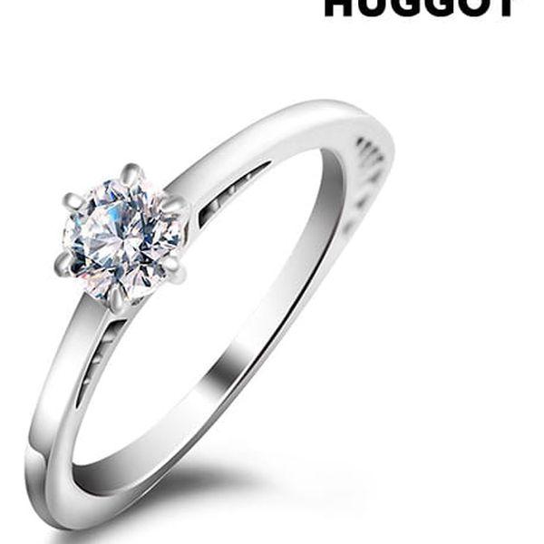 Prsten ze sterlingového stříbra 925 se zirkonem Geometry Hûggot vyrobený s křišťály Swarovski®