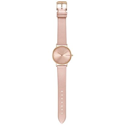Dámské hodinky s koženým řemínkem v barvě růžového zlata Rumbatime SoHo