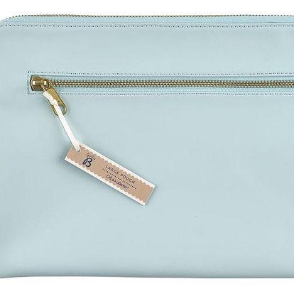 Busy B Obal na iPad Blue Contemporary, modrá barva, zlatá barva, textil, kůže