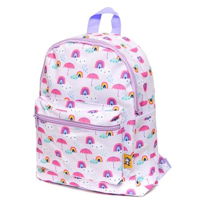 PETIT MONKEY Dětský batůžek Rainy days Lilac, růžová barva, fialová barva, plast, textil