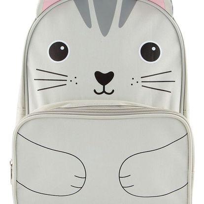 sass & belle Dětský batoh Cat, šedá barva, textil