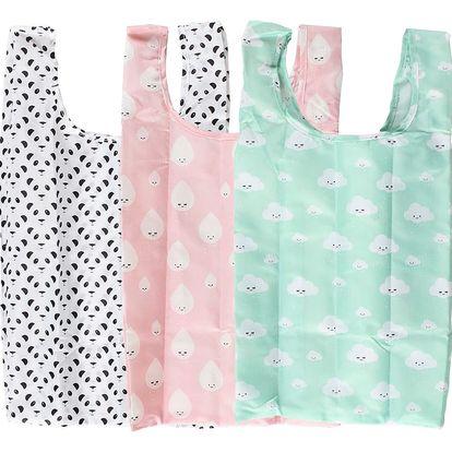 EEF lillemor Skládací taška v pouzdře Pastel Easy Kapka, růžová barva, zelená barva, černá barva, textil