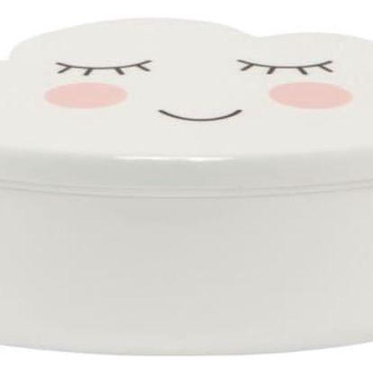 sass & belle Krabička na svačinu Sweet Dreams Cloud, bílá barva, plast