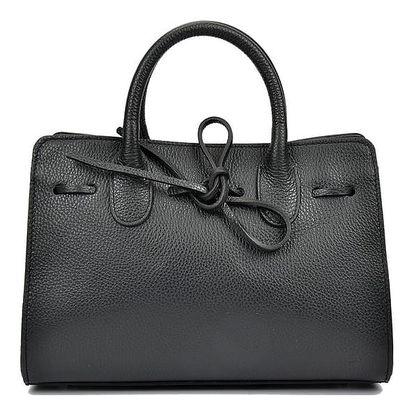 Černá kožená kabelka Anna Luchini Lisa