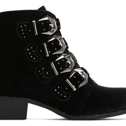Dámské černé kotníkové boty Mitchell 6159