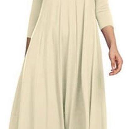 Dámské šaty s tříčtvrtečním rukávem - 13 barev