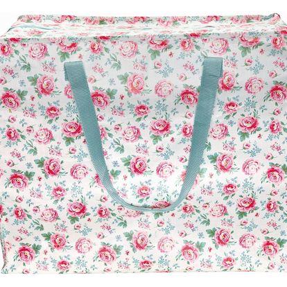 GREEN GATE Úložná taška Meryl white - větší, růžová barva, modrá barva, multi barva, plast