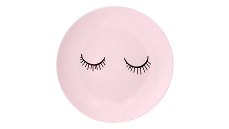 Bloomingville Keramický talířek Audrey Rose 20cm, růžová barva, keramika