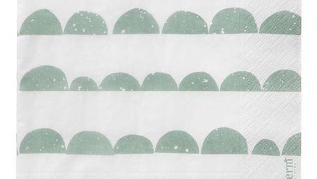 ferm LIVING Papírové ubrousky Half Moon - mint, zelená barva, papír