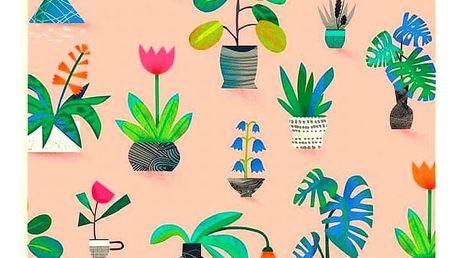 Ohh Deer Planner Potted Plants A6, růžová barva, multi barva, papír