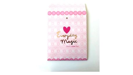 rice Dárková taštička Everyday Magic, růžová barva, papír