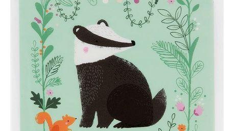 sass & belle Krabička na svačinu Badger, zelená barva, plast
