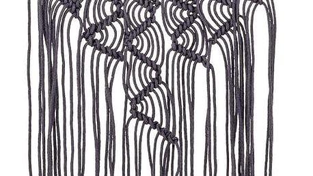Bloomingville Nástěnná dekorace z provázků Dream Purple, fialová barva, textil