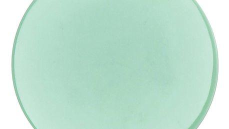 ferm LIVING Porcelánový tácek Platter Mint, zelená barva, porcelán