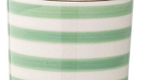 Bloomingville Keramická cukřenka Patrizia, zelená barva, béžová barva, dřevo, keramika