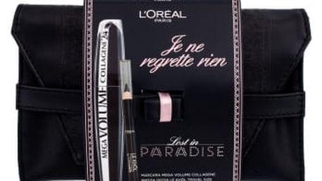 L´Oréal Paris Mega Volume Collagene 24h dárková kazeta pro ženy řasenka 9 ml + tužka na oči Le Khol 1 g 101 Midnight Black + psaníčko