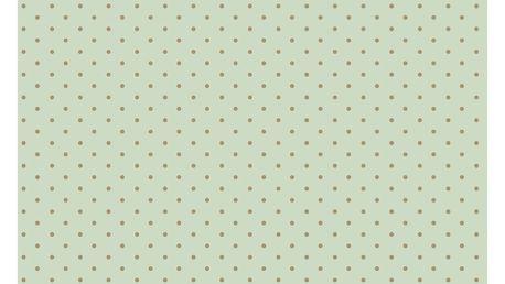 Maileg Hedvábný papír Mint/gold dots - 10 listů, zelená barva, zlatá barva, papír