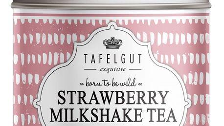 TAFELGUT Mini BIO rooibos čaj Strawberry Milkshake Tea - 30gr, růžová barva, kov